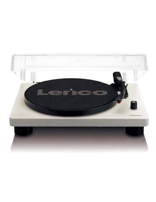 LENCO L-50 WOOD GIRADISCHI 3 VELOVITA' USB COPERCHIO E SPEAKER INCORPORATI NUOVO